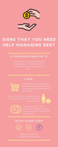 Signs that you need help managing debt