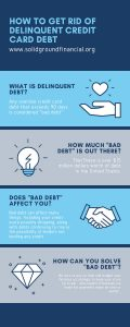 How to get rid of delinquent credit card debt Infographic