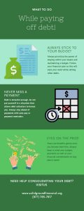 What to do while paying off debt